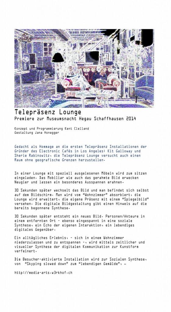Telepraesenz Lounge Flyer A4